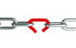 Broken chain link chain