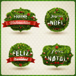 Merry Christmas in different languages.