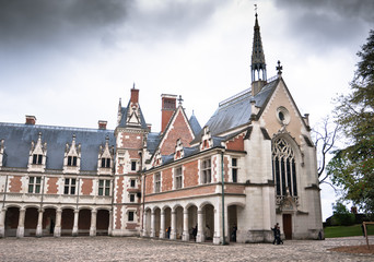Royal Chateau de Blois. One of the chateau on Loire in France