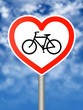 I love cycling sign