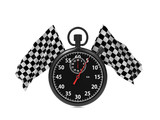 Checkered flag with Stopwatch.