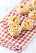 Italian egg pasta on kitchen towel