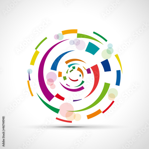 Abstract circular motion background