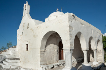 The white Church of Agios Konstantinos - Parikia, Paros
