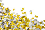 golden and silver star confetti