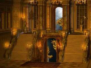 Palace stair interior