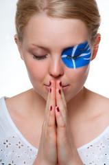 griechischer fan betet