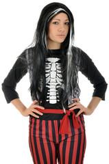 Junge Frau in Halloweenkostüm