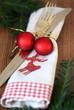 Weihnachtsgedeck mit Tannenzweigen