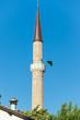 Minaret of Ferhadija Mosque in Sarajevo