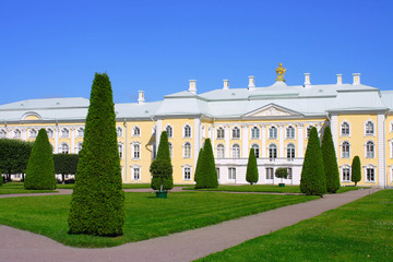 Peterhof, the Upper garden and the Grand Palace