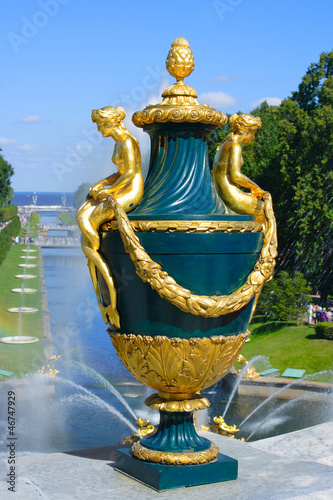 Peterhof, decorative vase