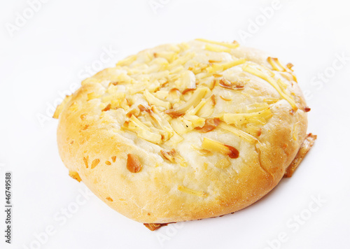 Freshly baked roll with cheese