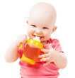 baby with juice