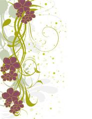 coin floral arabesque