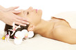 Facial massage at spa salon