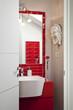Washbasin, mirror in a modern bathroom