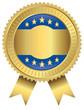 Goldvignette für Aktionen - blau gold