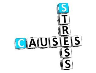 3D Stress Causes Crossword