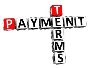3D Terms Payment Crossword