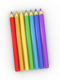 colour pencils poster