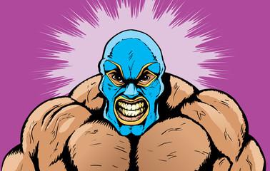 Angry wrestler