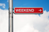 Street sign - weekend