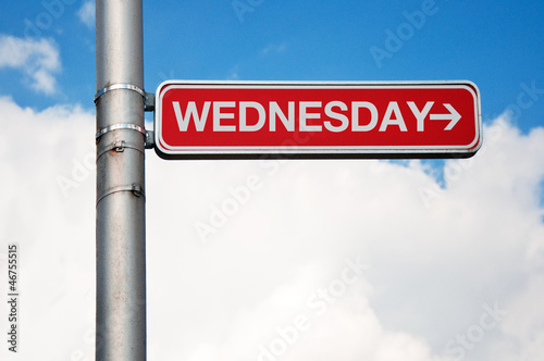 Street sign - wednesday