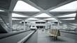Leinwanddruck Bild - U-Bahnhof futuristisch