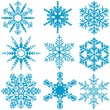 Snowflake Set - Winter Design Elements