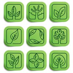 Vector eco labels