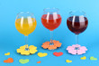 Colorful cocktails with bright decor for glasses