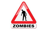 Panneau attention aux zombies