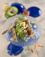 avocado salad with crab