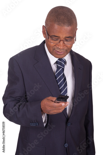 african businessman on the phone