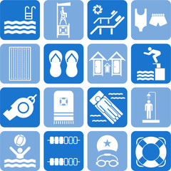 Swimming pool icons