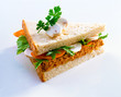 Carrot and mushroom sandwich
