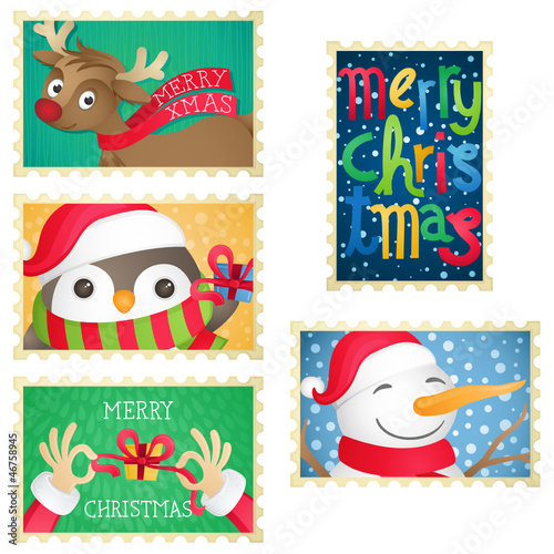 Christmas stamps, Briefmarken, Weihnachten