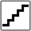 Schild weiß - Treppe