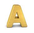 buchstabe letter A gold vertikal
