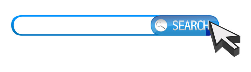 search bar and cursor
