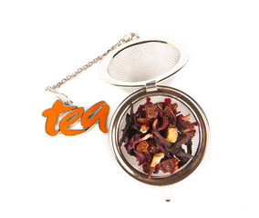 Tea keeper on white background