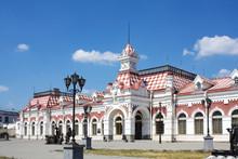 Gare de vieux à Ekaterinbourg, en Russie