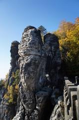 Blick von der Basteibrücke in der Sächsischen Schweiz