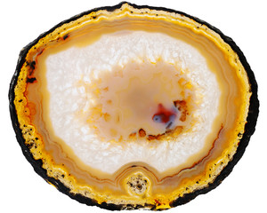 Agate on white background
