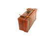 Old brown suitcase
