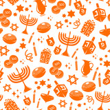 seamless pattern with Hanukkah symbols