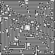 Black and white background with maze pattern