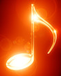Glowing musical note