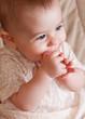 Adorable baby closeup portrait